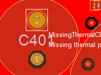 DRC Missing Thermal Pads THT